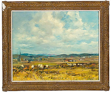 Ramón Barnadas. Olot 1909-1981. Olot. Oil on canvas. Signed and dated in 1949. Located in the reverse side. 65X81 cm