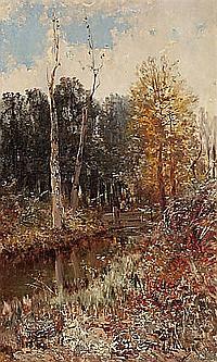 Andrés Larraga. Valtierra 1862- Barcelona 1931. Landscape. Oil on canvas. Signed. 100X60 cm