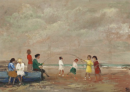 "Ricardo Baroja. Minas de Rio Tinto 1871- Vera de Bidasoa 1953. ""La comba"". Oil on panel. Signed. In the reverse side titled and dated i"
