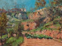"Josep Ventosa Domènech Barcelona 1897 - Port d'Andratx 1982 ""Los huertos"""