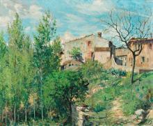 "Josep Ventosa Domènech Barcelona 1897 - Port d'Andratx 1982 ""Calle de la Manega, Moià"""
