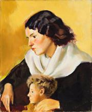 Francesc Domingo Segura Barcelona 1893 - Sao Paulo 1974 Young woman with a boy