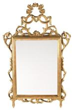 Charles IV mirror with frame in carved and gilded wood, late 18th Century
