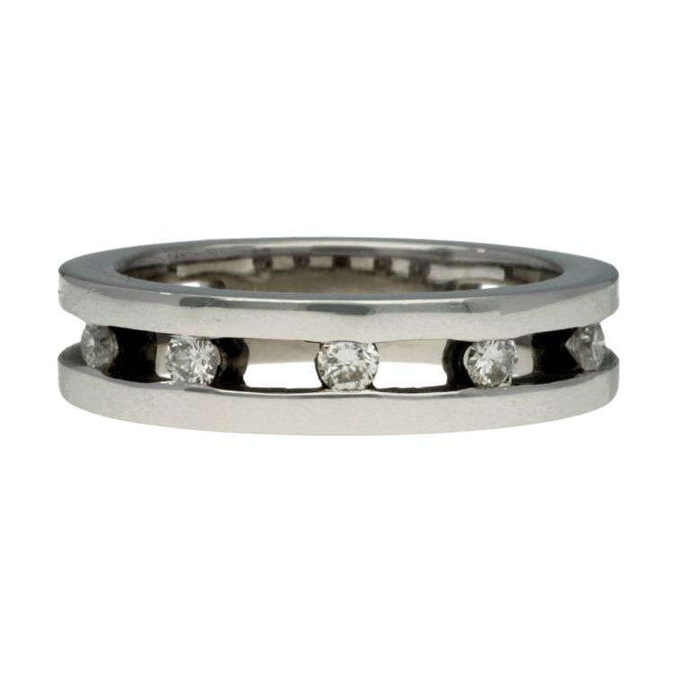 Diamonds ring White gold and brilliant cut diamonds, 0.20 cts. 7,8 gr