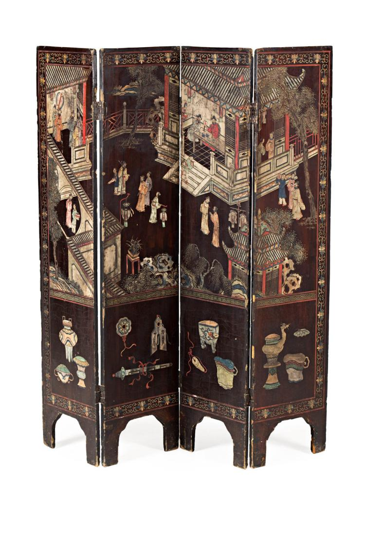 Chinese folding screen in