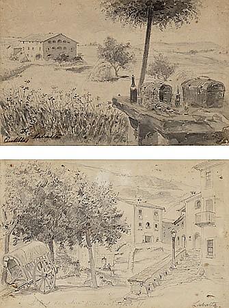 "Francesc Labarta Barcelona 1883-1963 ""La masía de Gaudí en Centellas, and ""la font del Jalec"""