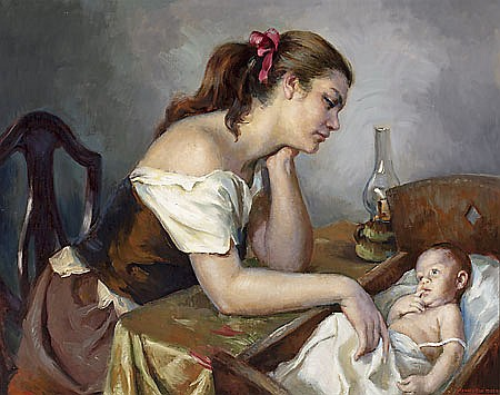 "Francisco Ribera Gómez Madrid 1907-1996 ""Maternal"""