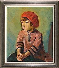 Francesc Domingo Segura Barcelona 1893 - São Paulo 1974 Portrait of Odile, daughter of the artist