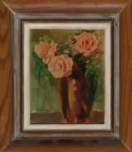 Francesc Domingo Segura Barcelona 1893 - São Paulo 1974 Vase with flowers