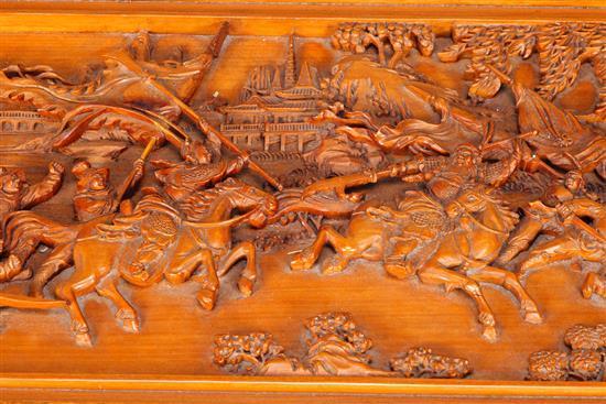 Arc n chino en madera tallada en relieve y con marqueter a - Marqueteria para ninos ...