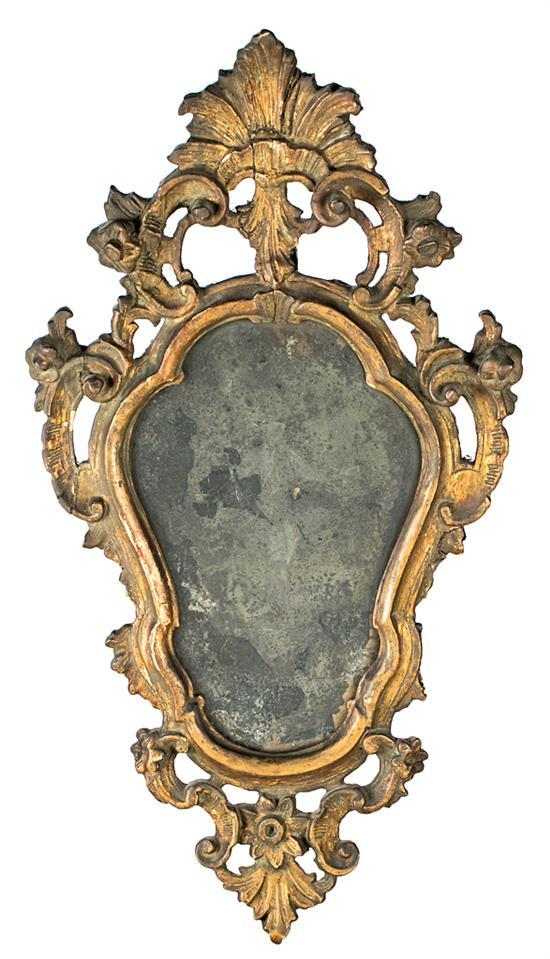 Eighteenth century style small decorative mirror in carved a for Small decorative mirrors