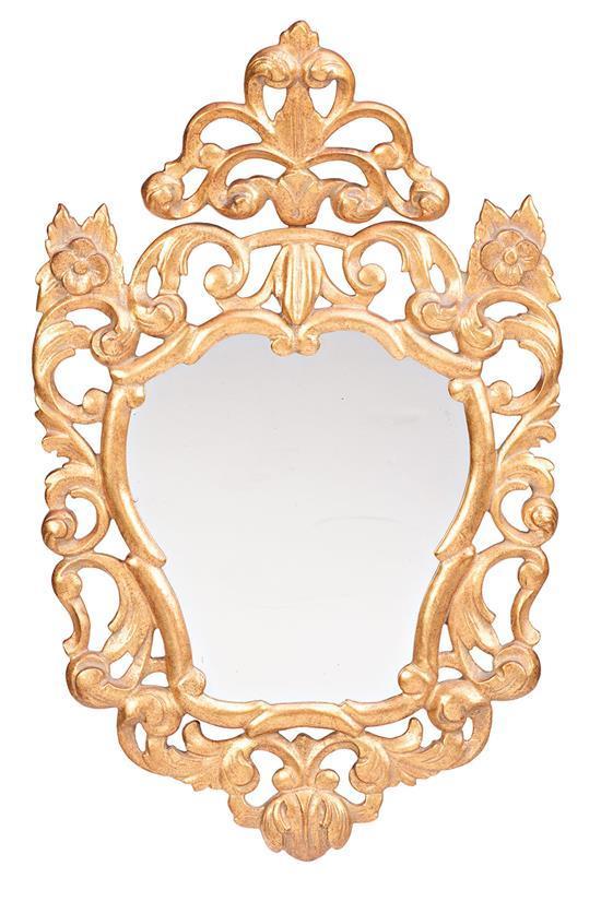 Espejo y cornucopia con marcos de estilo barroco en madera t - Espejos estilo barroco ...