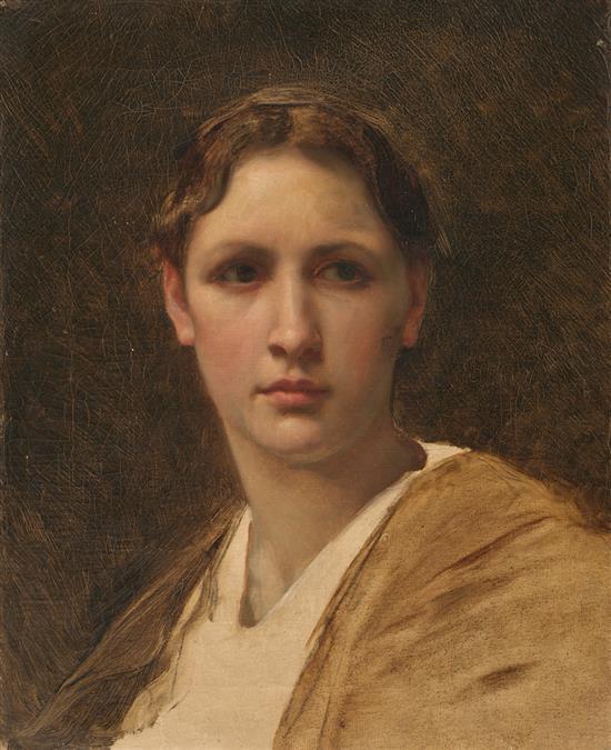 Carlos Pellicer Barcelona 1865 - 1959 Una joven Óleo sobre lienzo