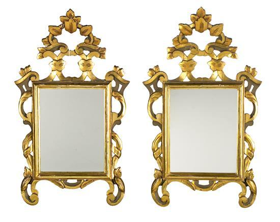 Charles iv style mirror and pair of small decorative mirrors for Small decorative mirrors