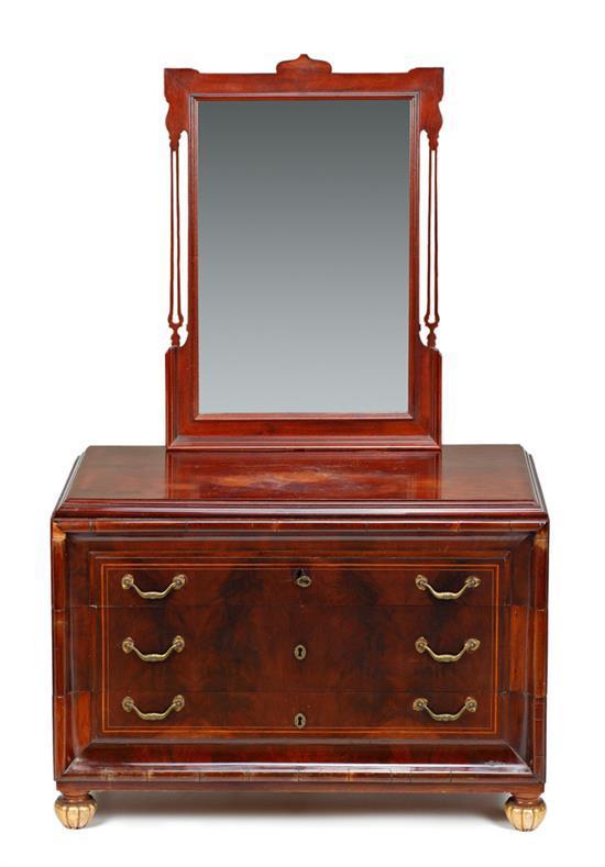 C moda con espejo estilo isabelino en caoba del primer terc - Comoda con espejo ...