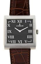 Corum, Buckingham, steel gentleman's wristwatch