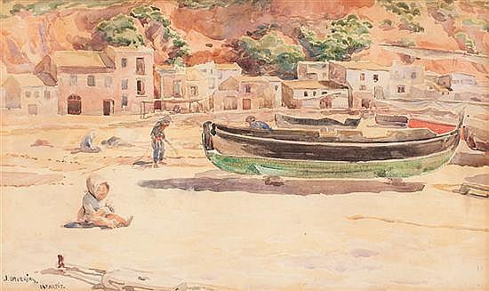Joan Llaverias Vilanova i La Geltrú 1865 - Barcelona 1938 L'Estartit beach