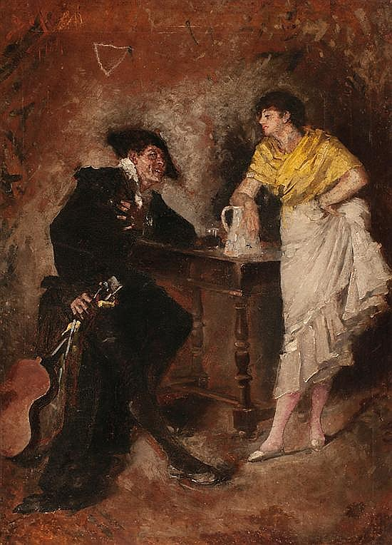 Benito Belli Active in Barcelona, second half of the 19th Century Typical Scene