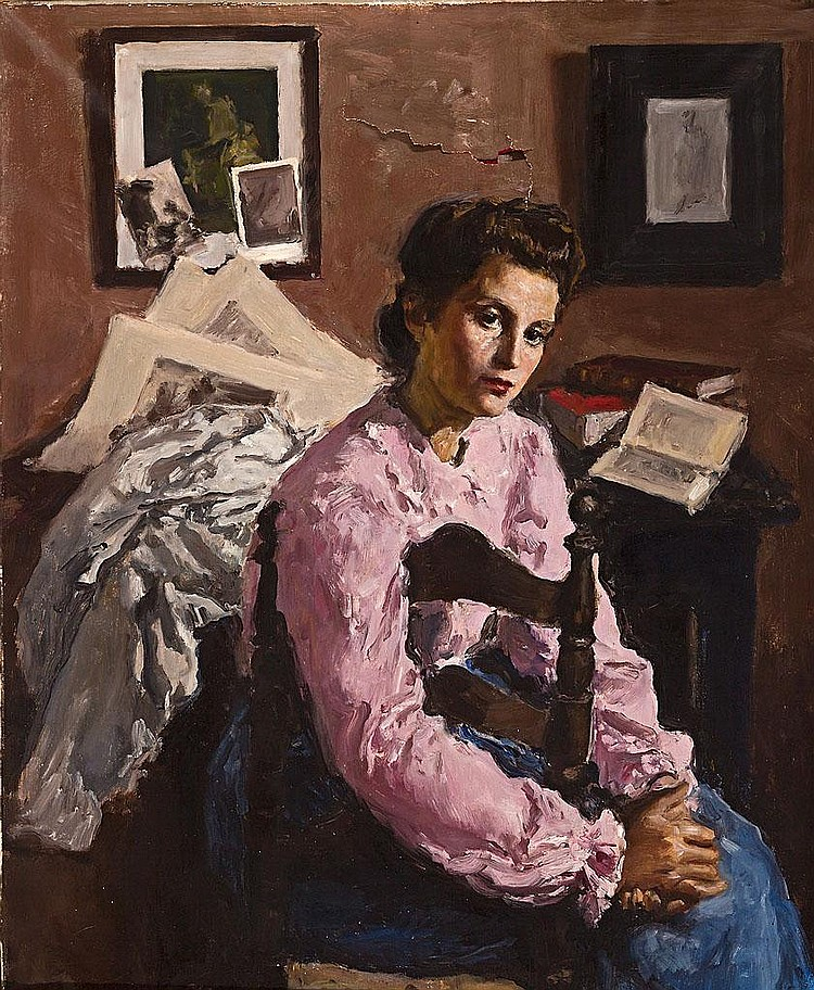 Alfred Sisquella   (Barcelona 1900 - Sitges 1964)  Antonia sentada