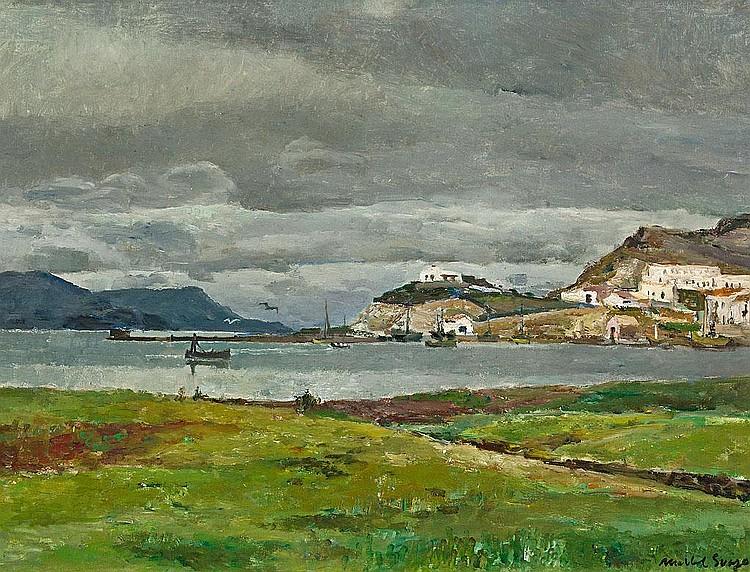 Josep Maria Mallol Suazo   (Barcelona 1910 - 1986)  Vista costera