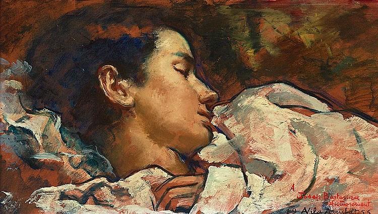 Antoni Vila Arrufat   (Sabadell 1894 - Barcelona 1989)  Joven durmiendo