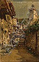 Joan Roig Soler   (Barcelona 1852 - 1909)  Calle de pueblo, Joan (1852) Roig Soler, Click for value