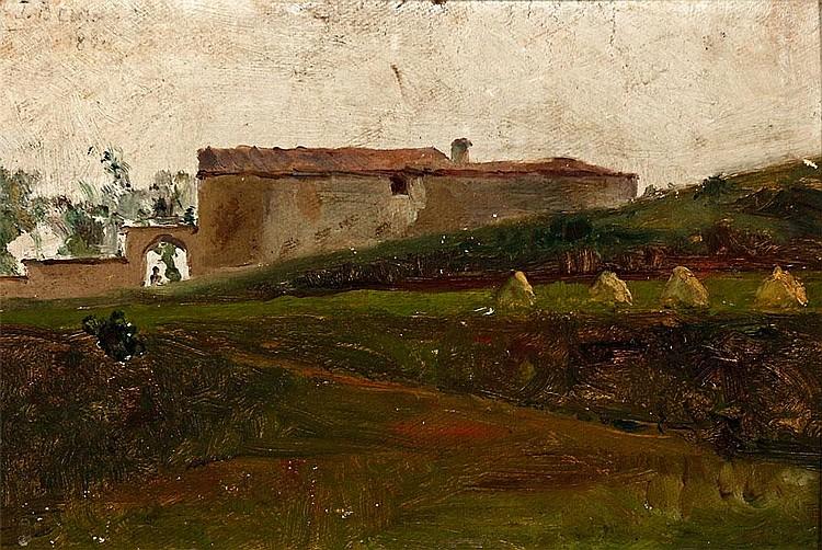 Josep Berga Boada   (Olot 1872 - Sant Feliu de Guixols 1923)  Un prado