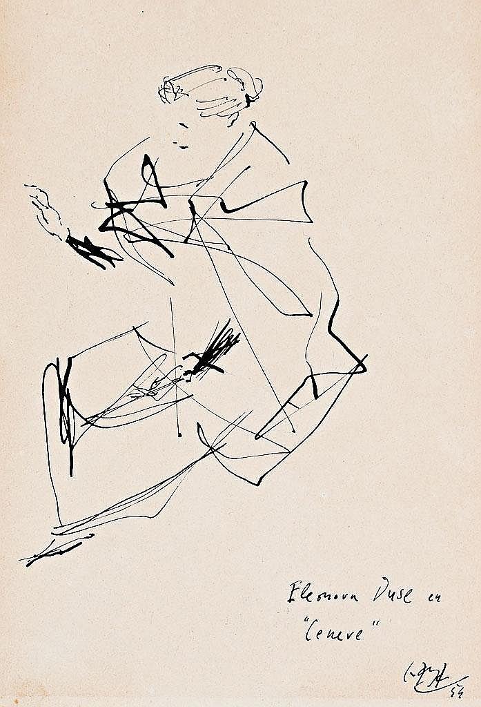 Ramón Gaya   (Murcia 1910 - Valencia 2005)  Estudio de piernas