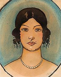 Ramon Pichot Gironés (Barcelona 1872-1925) Busto de una joven