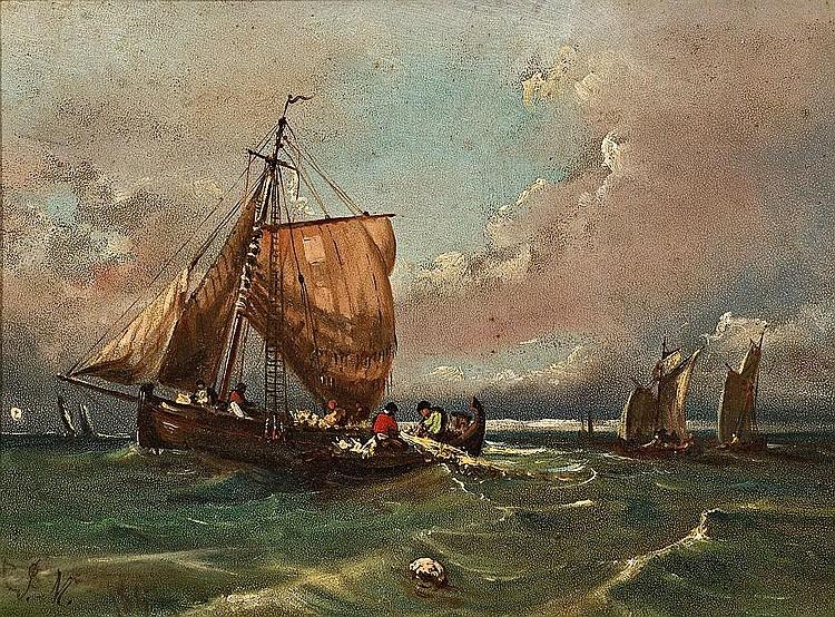 Jenaro Pérez Villaamil   (Ferrol 1807 - Madrid 1854)  Marina