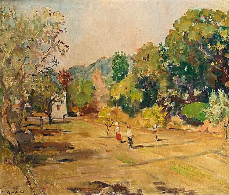 Rafael Benet Vancells   (Terrassa 1889 - Barcelona 1979)  El molí aprop, Tossa