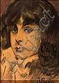Ignacio Pinazo Camarlench   (Valencia 1849 - Godella 1916)  Retrato del hijo del artista, Ignacio Pinazo, Click for value