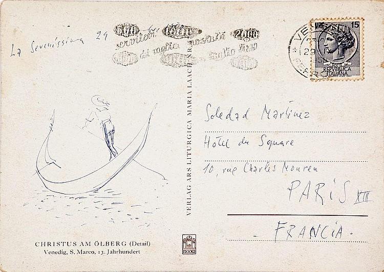 Ramón Gaya   (Murcia 1910 - Valencia 2005)  Toro y Vistas de Venecia
