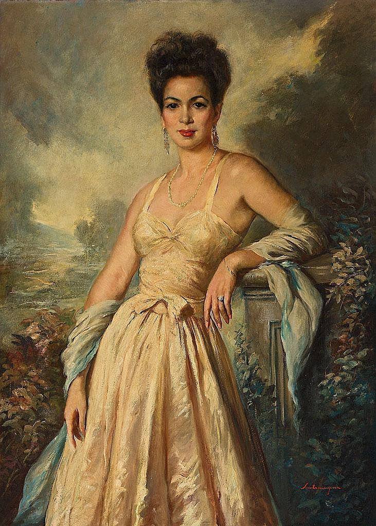 Ernest Santasusagna   (Barcelona 1900 - 1964)  Retrato de una joven