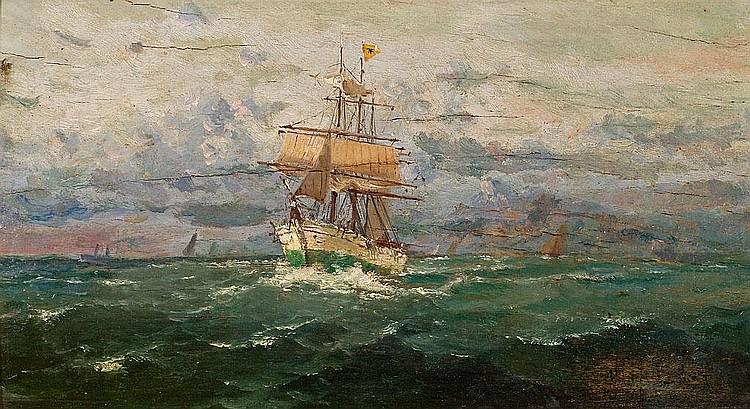 Francesc Hernández Monjo   (Maó 1862 - Barcelona 1957)  Marina