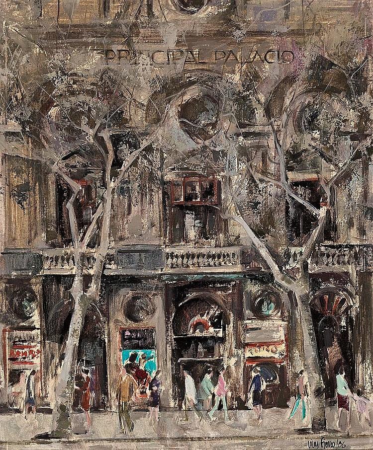 Antoni Vives Fierro   (Barcelona 1940)  Vista urbana