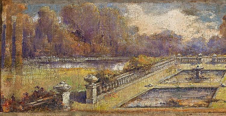 Aurelio Arteta   (Bilbao 1879 - México D.F. 1940)  Jardín