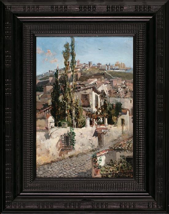 Attributed to Félix Yuste Alcalá de Henares 1866 - 1950 View of Granada