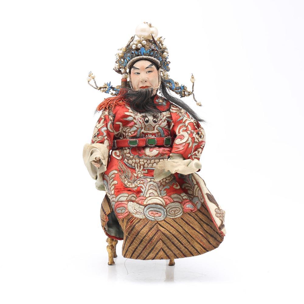 """""""Sheng"""", Chinese opera puppet, 19th Century."""