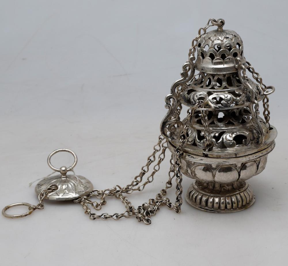 Barcelona silver censer, 18th Century.