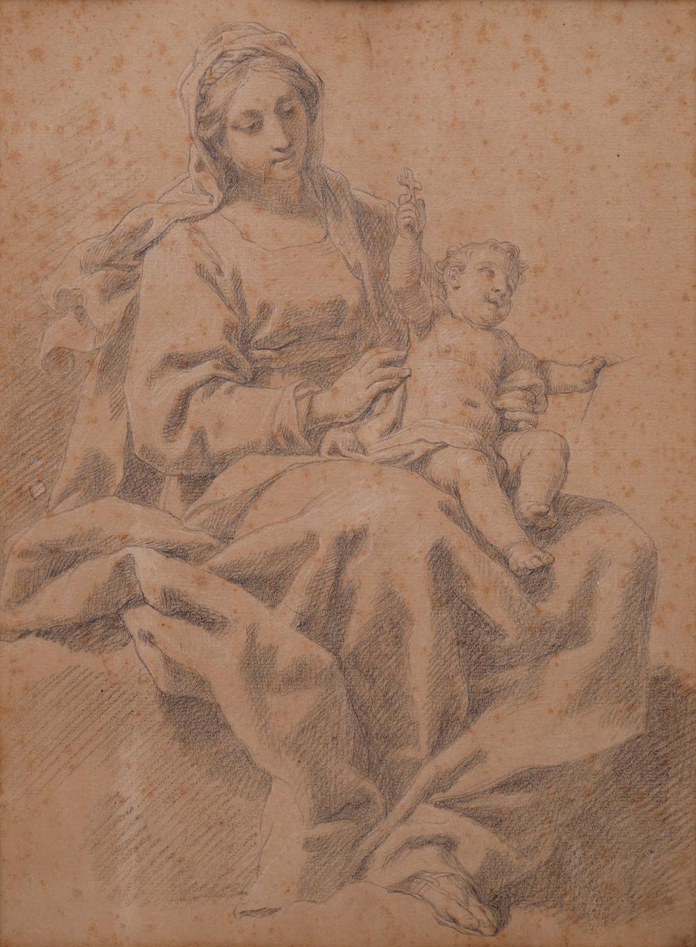 GAETANO GANDOLFI. Attributed to. Madonna and Child.