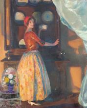 """Lluís Masriera Rosés, """"Giseta"""", Oil on canvas"""
