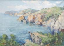 JOSEP VENTOSA DOMÈNECH. Seaside landscape. (d)