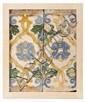 Pareja de azulejos de arista toledanos o sevillanos, del siglo XVI