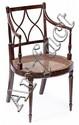Juego de doce sillas estilo inglés de Pierre Lottier en caoba, de mediados del siglo XX
