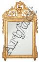 Pareja de espejos Carlos IV en madera tallada y dorada, de las últimas décadas del siglo XVIII