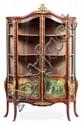 Vitrina estilo Luis XV en caoba con plafones tipo