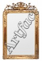 Espejo con marco Napoleón III en madera y estuco dorado, del tercer cuarto del siglo XIX
