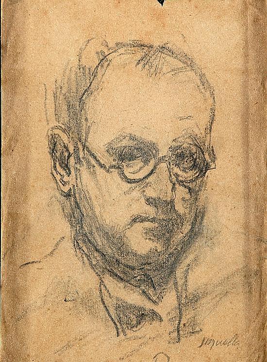 Alfred Sisquella Barcelona 1900 - Sitges 1964 Retratos Dos dibujos a lápiz