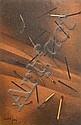 Àngel Planells, Joan Cruspinera, Joan Ponç, Montserrat Riu y otros Composiciones Doce técnicas mixtas, Angel Planells Cruanyes, Click for value